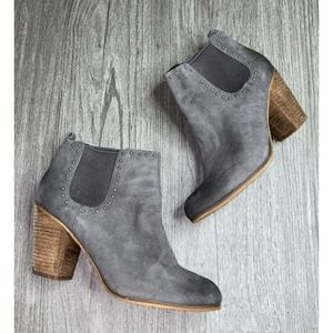 BP Round Toe Ankle Booties Stud Detail Ankle Boots